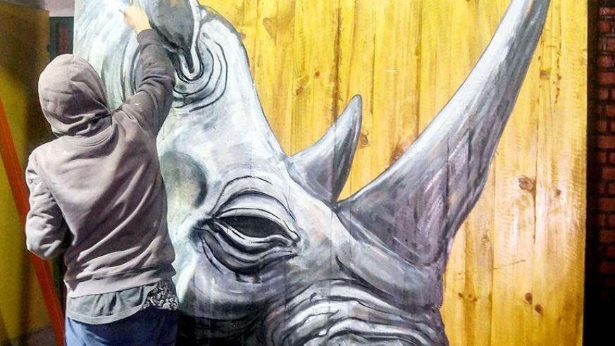 ROA is acknowledged for the unique portrayals of large scale animals that reflect his opinions concerning human societies. Photo courtesy of Kurema Kureba Kwiga.
