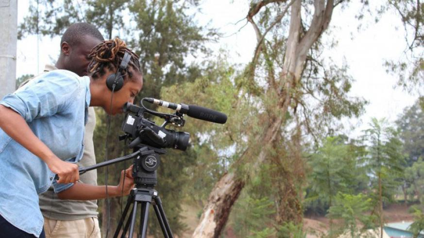 Kamikazi during her camera work. / Courtesy