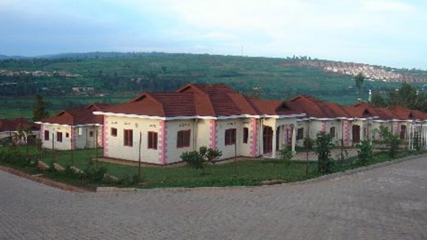 Some of the housing units that were being developed by DN International. / File
