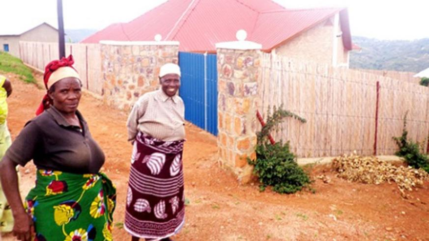 One of the houses constructed for elderly women by Unity Club in Kamonyi District. (Courtesy)