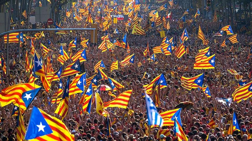 A demonstration for Catalonian independence in Spain. (Net Photo)