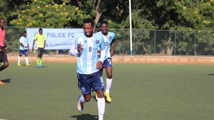 Police FC head coach Seninga wants to see his striking duo of Mico (front) and Biramahire, behind him, to become more ruthless in front of the goal. / File