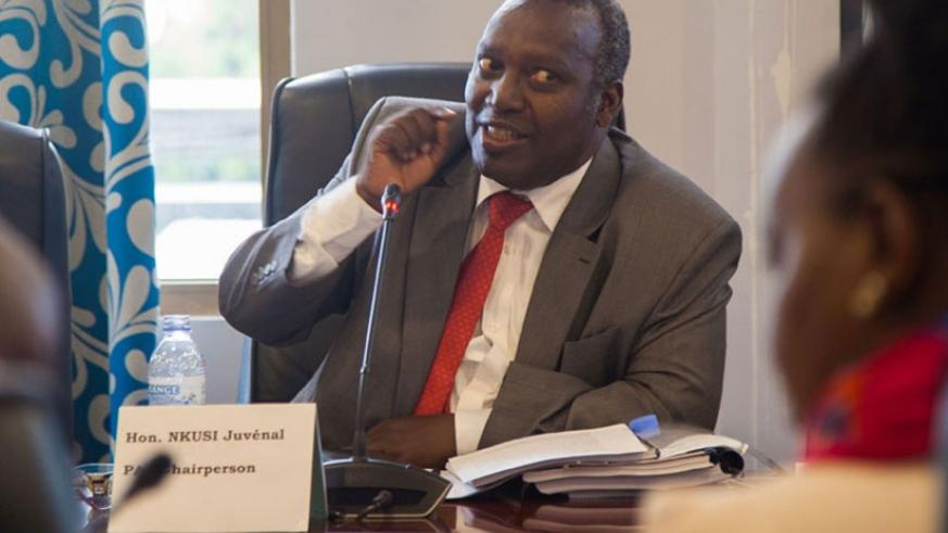 The Chairperson of the Parliamentary Public Accounts Committee, Juvenal Nkusi at a past meeting. / File