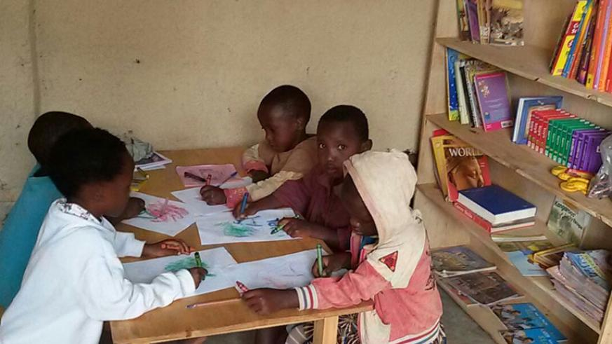 Children learn best through activities like painting. / Dennis Agaba.