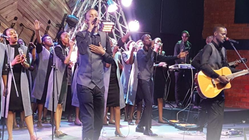 Potter's Hand Worship perform at the concert which attracted some of the big stars in the gospel music. (All photos by Hudson Kuteesa)