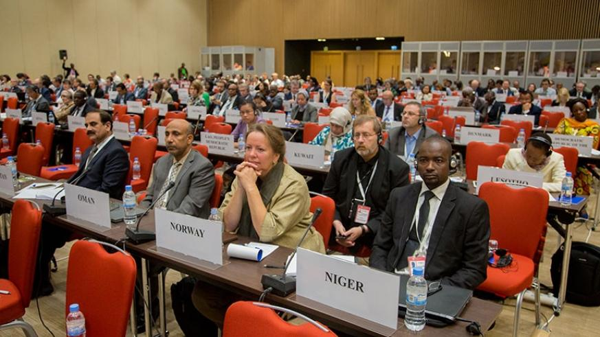 Participants during the conference in Kigali, yesterday. (Faustin Niyigena)