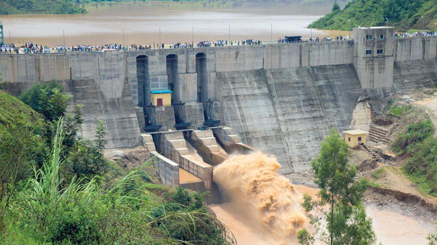 Rusizi hydro plant feeds in to the national grid.