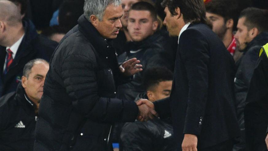 Jose Mourinho accused Chelsea manager Antonio Conte of trying to humiliate him after his side's 4-0 hammering of Manchester United last season. / Internet photo