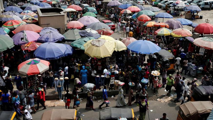 The Oluwole Urban Market near Marina in Lagos. Being middle class is more than just being a consumer. / Internet photo