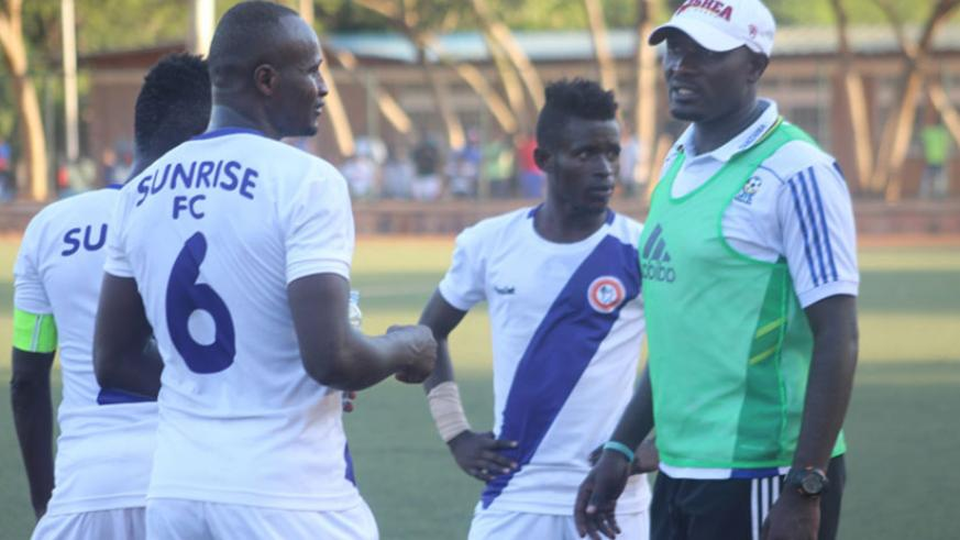 Former Rayon Sports midfielder Leon Uwambajimana (#6) scored the only goal as Sunrise beat Marines 1-0 on Saturday to go third in the league table. File