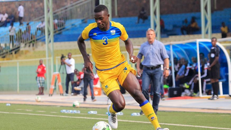 Rwanda football team left-back Emmanuel Imanishimwe. (Sam Ngendahimana)