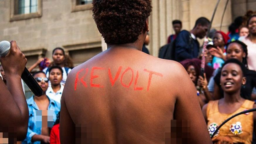 Are naked protests justifiable? (Net photo)