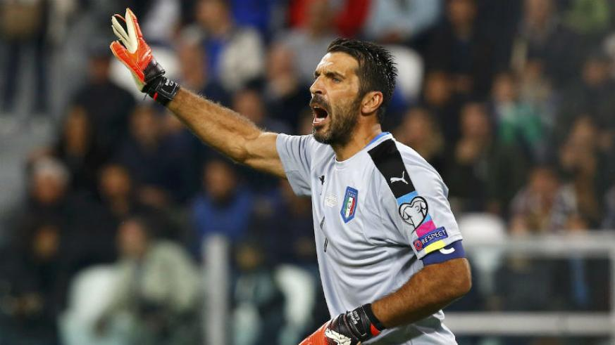 Gigi Buffon and Italy will be looking to keep things tight Friday night. / Internet photo