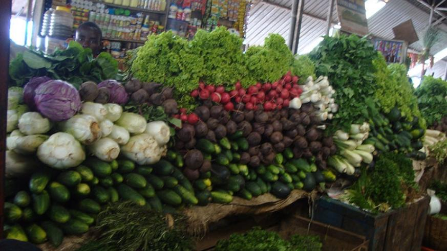 Vegetable prices went up 7.8 per cent last month. / File.