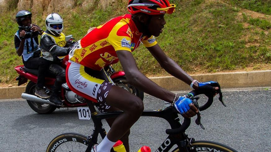 Mugisha, then 18-year-old, won the best climber jersey with 60 points on his Tour du Rwanda debut. File.