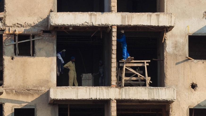 Workers at construction site in Kimihurura. File.