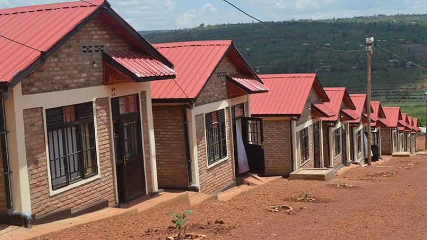 The forty housing units of Muyabarayi model village in Masaka sector in Kicukiro District.