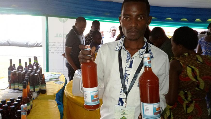 Musanze's Jean Paul Ntezimana makes wine from sweet potatoes. Innovators like him need to be supported. / File