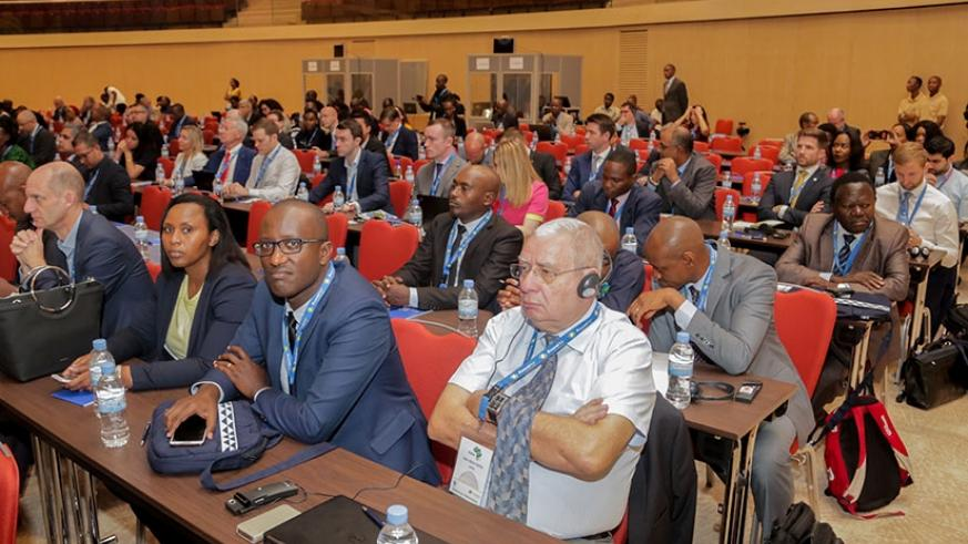 Some of the delegates at the AFRAA summit that ended yesterday in Kigali. / Faustin Niyigena.