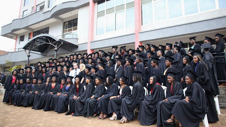 The graduates of Akilah Institute for Women pose for a group photo during the ceremony last Friday. / Lydia Atieno.