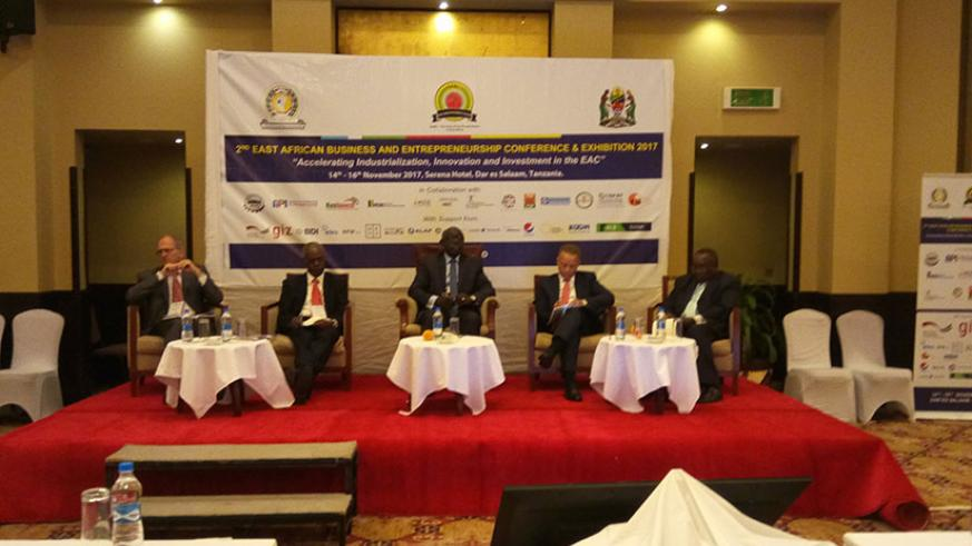 Members of the East African Business Council during the meeting in Arusha. Courtesy.