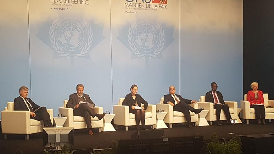 The meeting featured panel discussion in which the status of Rwandan participation on various peacekeeping missions was highlighted. (Courtesy)