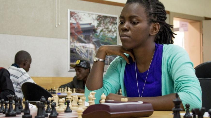 Marie Faustine Shimwa, is the women's chess defending national champion. File
