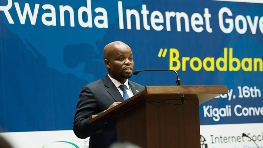 Nsengimana said there is still much work to do to maximise broadband. / Timothy Kisambira