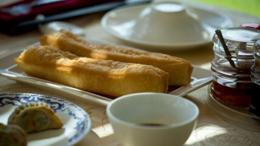 Chinese breadsticks are a popular item of the dim sum menu.