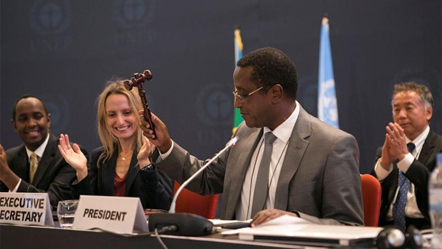 Minister for Environment Vincent Biruta said it was a historical moment after Sweden became the 20th country that ratified the historic Kigali Amendment to the Montreal Protocol. / File
