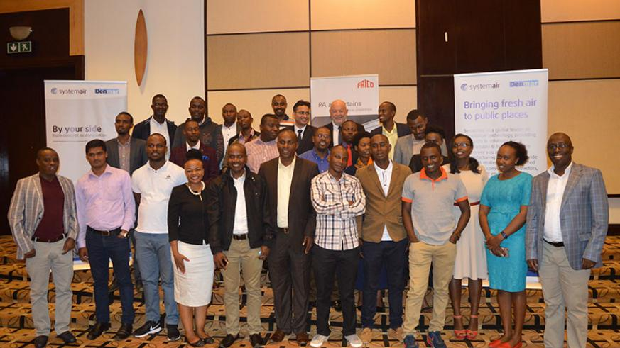 Denmar together with Systemair staff and other invited guests pose for a group photo. / Joseph Mudingu