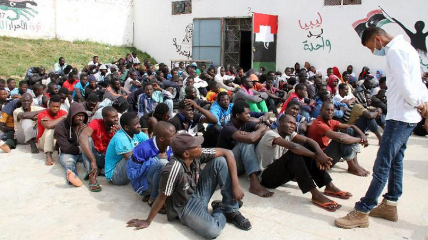 Illegal immigrants detained at Abu Salim detention centre in Tripoli, Libya. / Internet photo