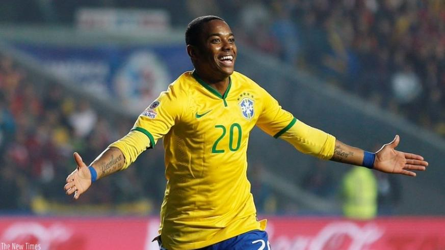 Robinho is a Brazil international - and has won 100 caps after making his debut in 2003. Net photo.