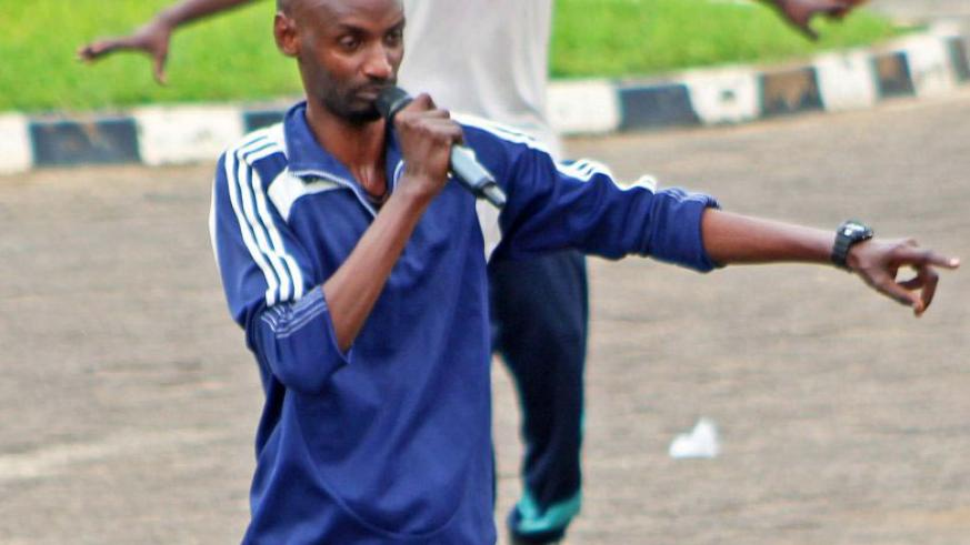 Nelson Mukasa carrying instructions during a previous Car Free Day event.
