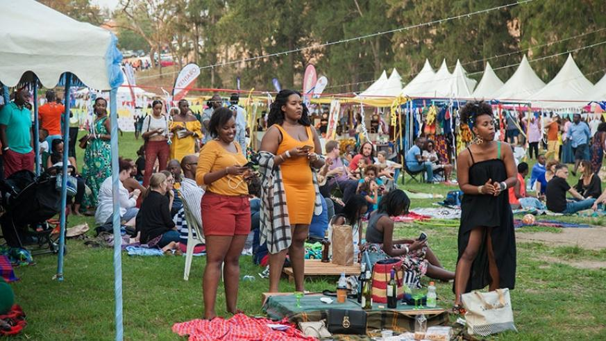 Some of the people who turned up for the first edition of Blankets and Wine in Kigali./ File