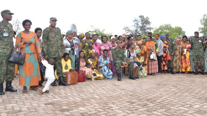 During the commencement of a series of workshops for the spouses of military personeles in Ngoma on November 27, 2017. Kelly Rwamapera