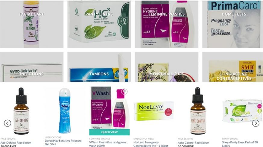 Some of the health products displayed on Kasha website. Courtesy.