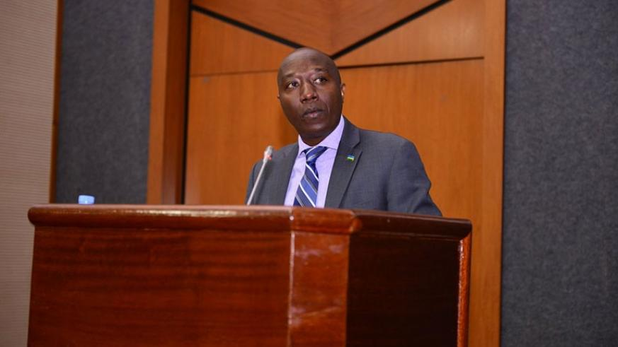Prime Minister, Eduard Ngirente presenting to both Chambers of Parliament the seven-year government programme for education sector. (Courtesy)
