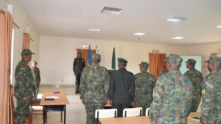 Army Chief of Staff, Maj Gen J Musemakweli  received at Kami Barracks were he briefed the contingent
