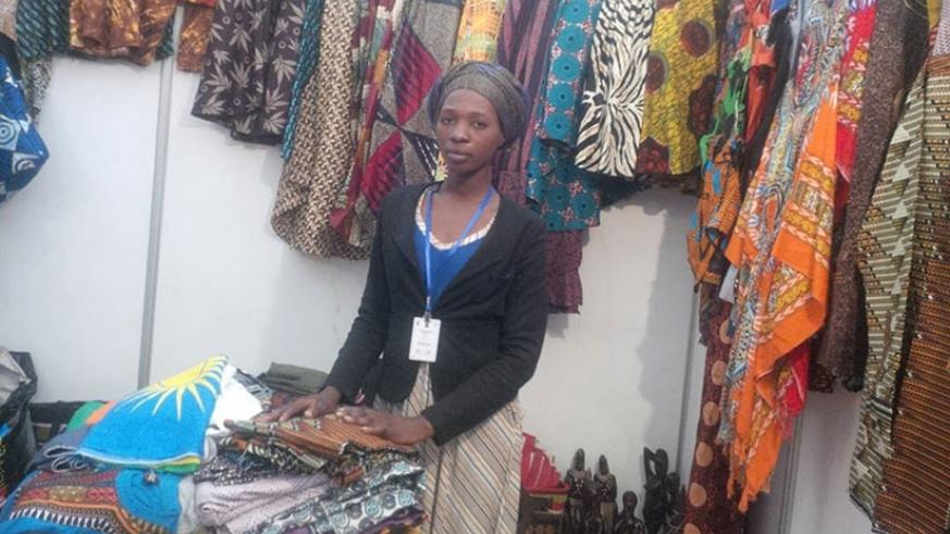 A trader waits for buyers at the Made-in-Rwanda expo on Thursday. File.
