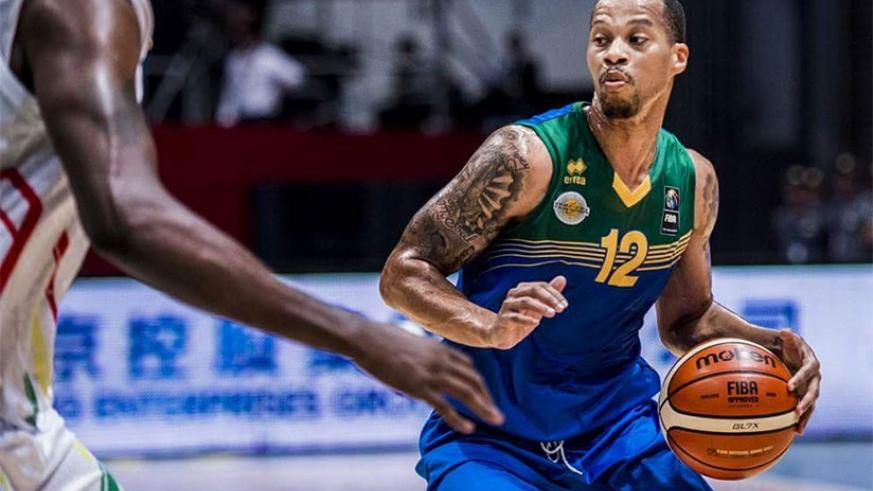 Rwanda's Kenneth Gasana in action during this year' FIBA Afro-basket finals in Tunisia. Rwanda in Group B for FIBA WCup qualifiers first round. / File