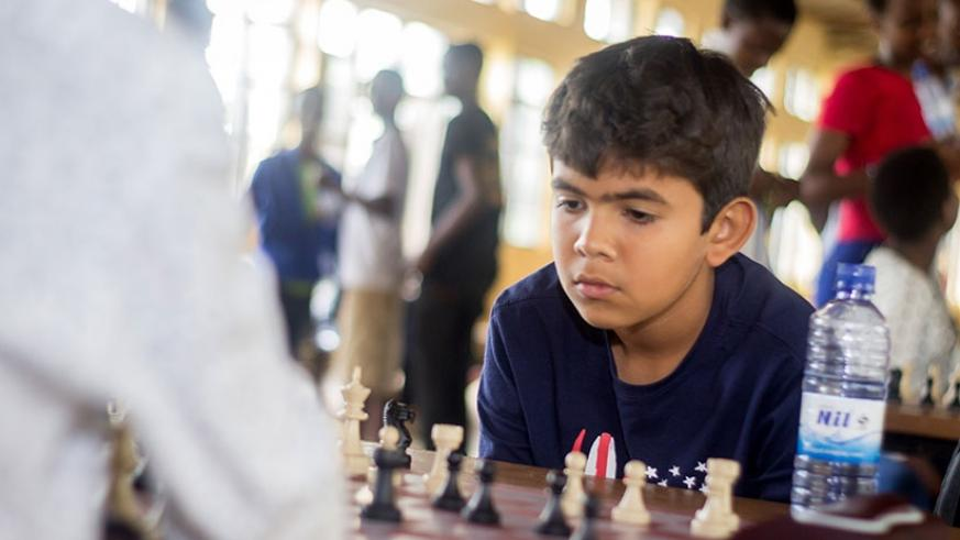 Dheer Chawla, 11, stunned opponents winning all his games in the U-12 category (All photos by Fernand Mugisha)