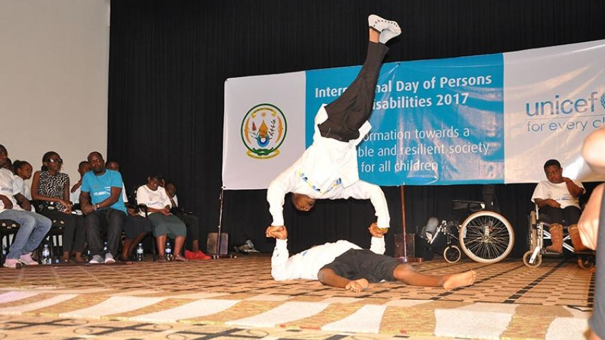 Children with disability displaying their dancing skills. / All photos by Diane Mushimiyimana.