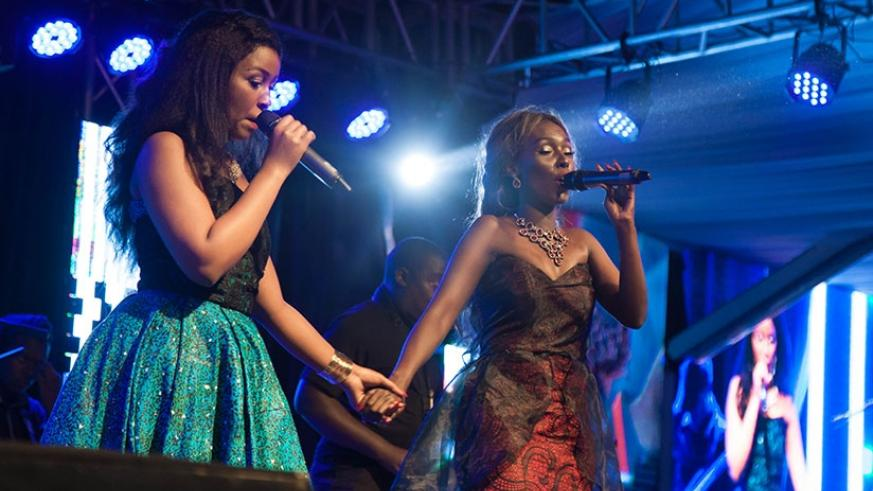Charly & Nina perform during their album launch concert on Friday. File.