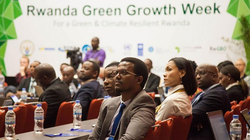 Participants at the launch of Green Growth Week in Kigali on Monday. File.