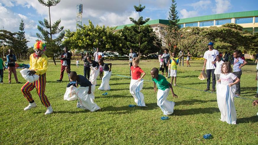 Children play at a  kids festival in Kigali recently. Nadege Imbabazi.