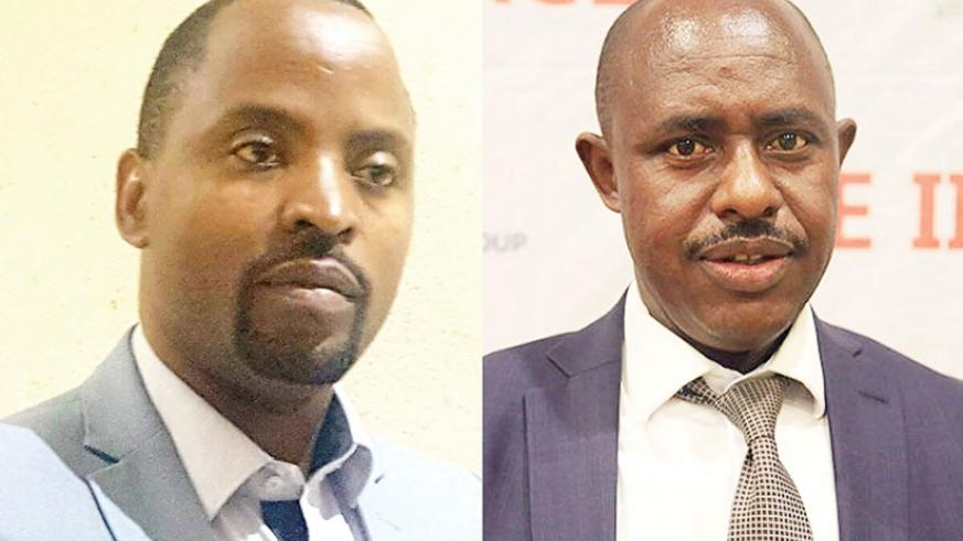 Jean de Dieu Rurangirwa (L), the new Minister for ICT, and Dr Eugene Mutimura, who was appointed the new Minister for Education yesterday. The duo replaced Jean Philbert Nsengimana....