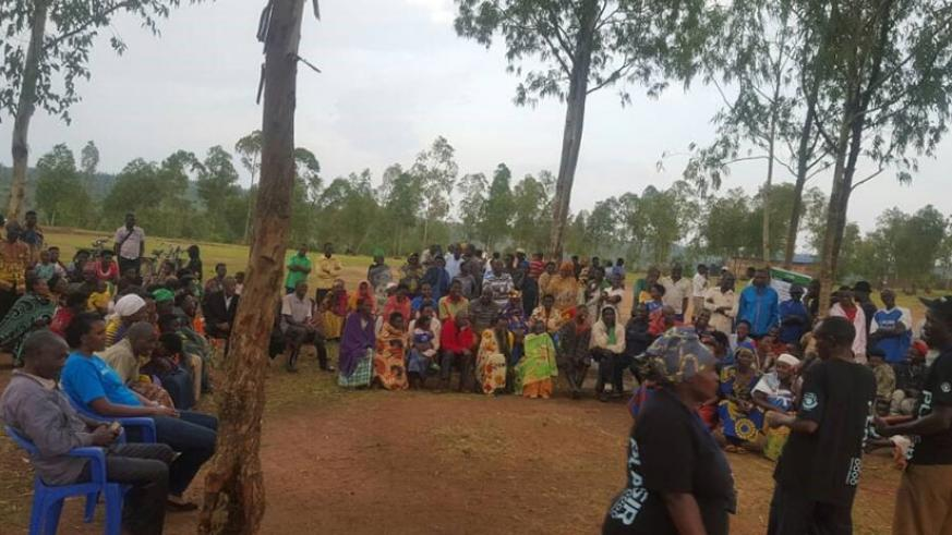 CBOs activities in Rukomo sector. It was a community dialogue conducted by CBO KOBURL from Nyagatare on HIV prevention messages with focus to condom use