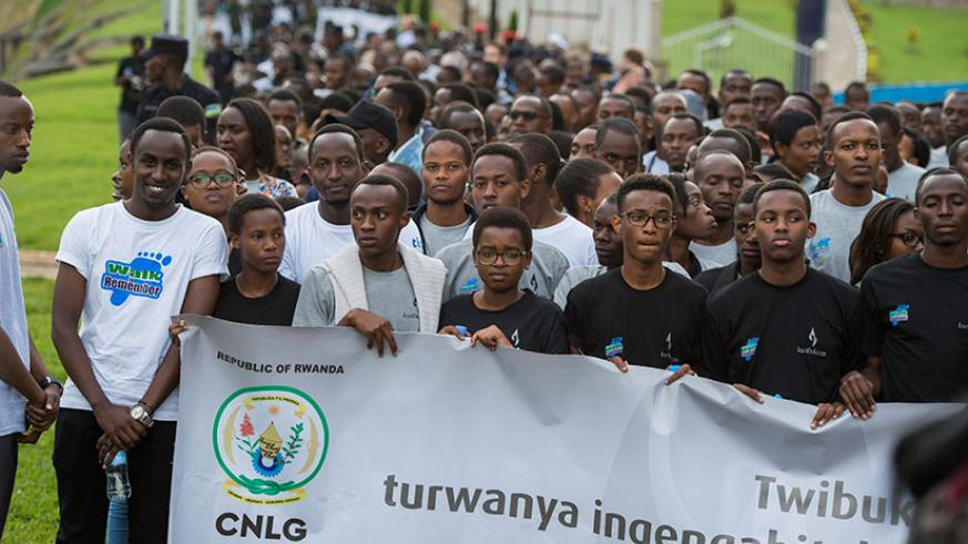 Youth during a walk to Remember march on April 7th. As the world commemorated the International day against Genocide yesterday, officials called for the international community to ....