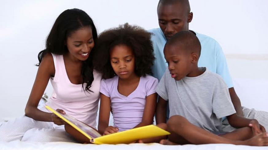 Reading as a family is a good way to bond and make children ope up.  (Net)